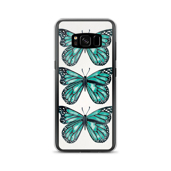 Butterfly – Turquoise Palette • Samsung Case