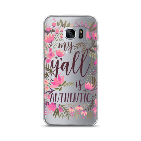My Y'all is Authentic – Vintage Palette • Samsung Case (Transparent)