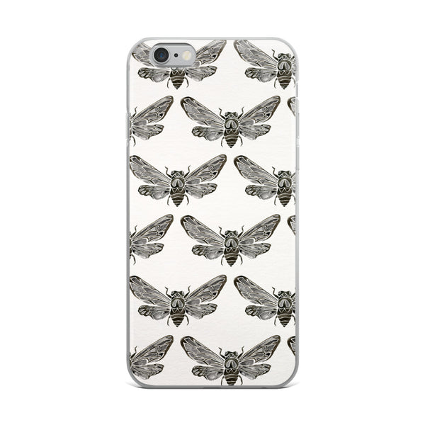 Summer Cicada – Black Palette • iPhone Case