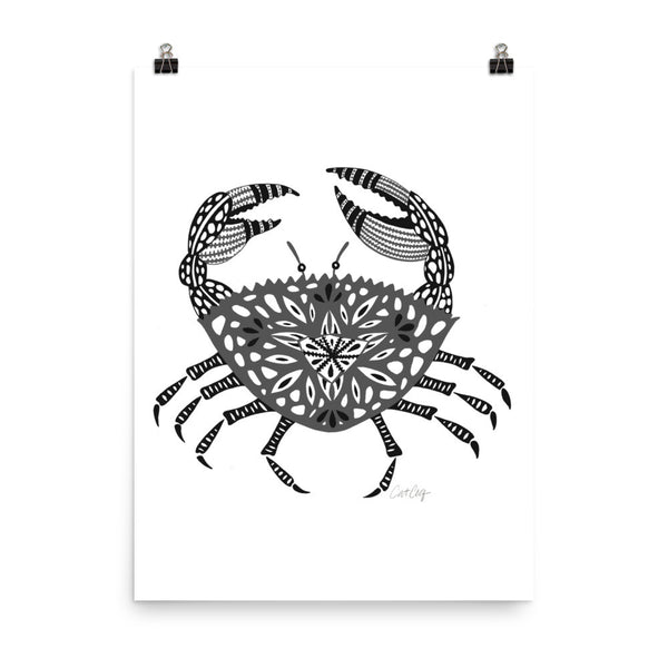 Crab – Black Palette • Art Print