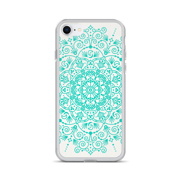 Moroccan Mandala – Turquoise Palette • iPhone Case