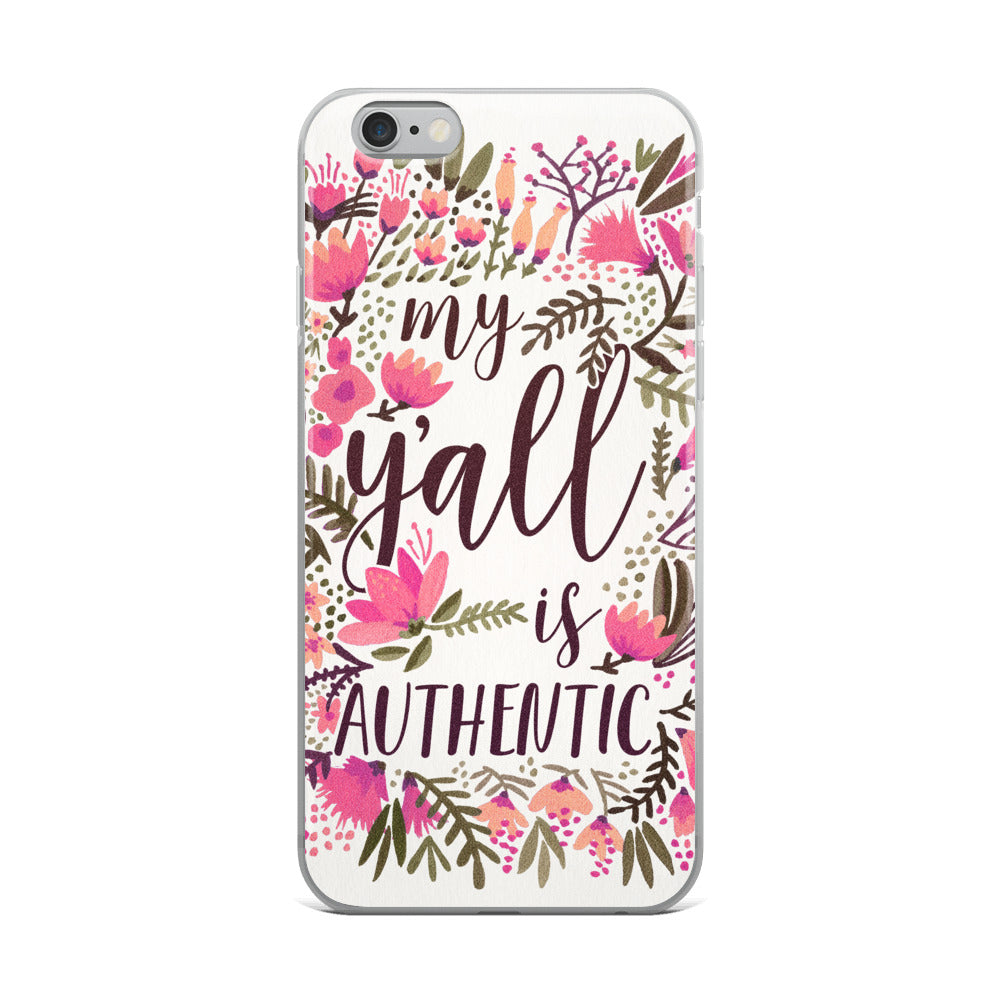 My Y'all is Authentic – Vintage Palette • iPhone Case