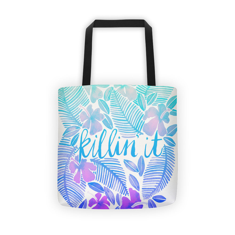 Killin' It – Turquoise Ombré  •  Tote Bag