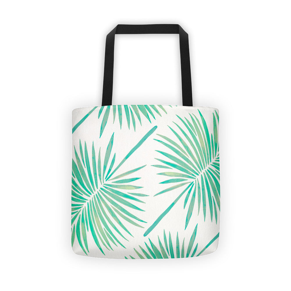 Fan Palm – Mint Palette  •  Tote Bag