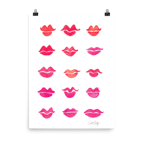 Kiss Collection – Bubblegum Pink Palette • Art Print