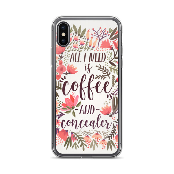 Coffee & Concealer – Vintage Palette • iPhone Case