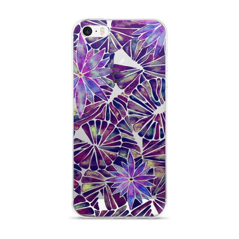 Water Lilies – Mauve Palette  •  iPhone 5/5s/Se, 6/6s, 6/6s Plus Case (Transparent)