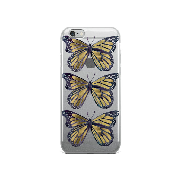 Butterfly – Gold Palette • iPhone Case (Transparent)