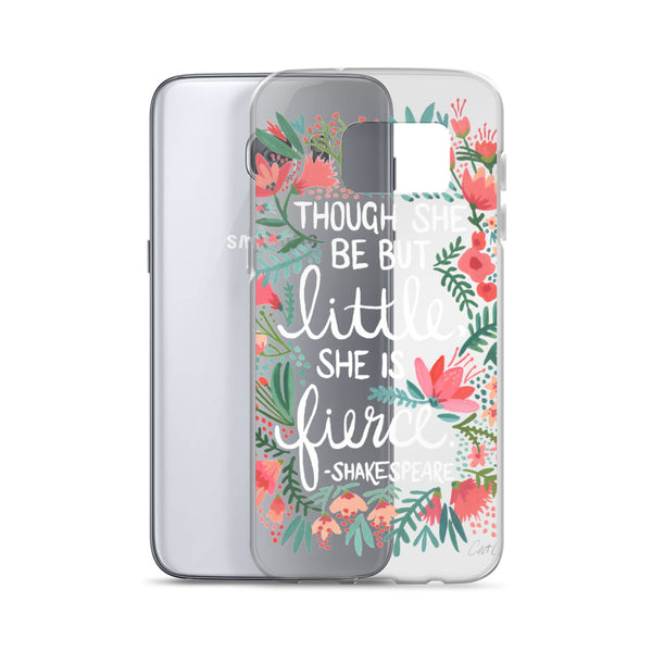 Little & Fierce – White Type • Samsung Case (Transparent)