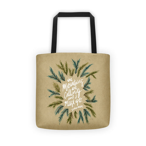 Mountains are Calling – Kraft Palette • Tote Bag