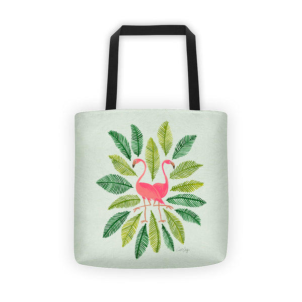Flamingos and Fronds • Tote Bag