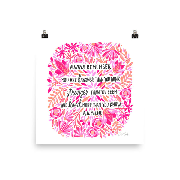 Always Remember – Pink Ombré Palette • Art Print