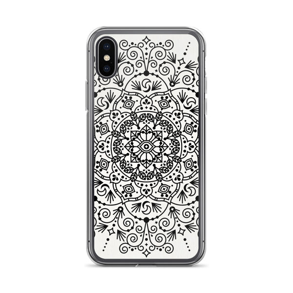 Moroccan Mandala – Black Palette • iPhone Case