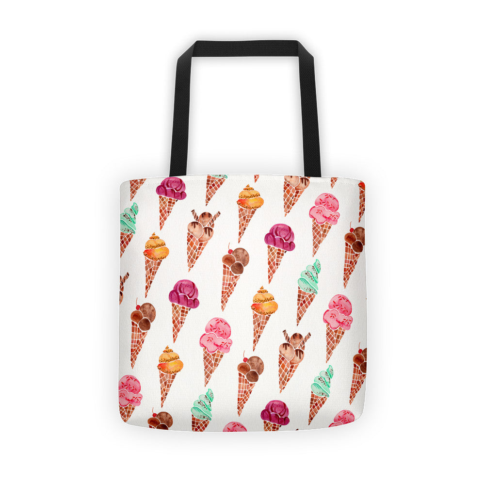 Ice Cream Cones – Rainbow Palette • Tote Bag