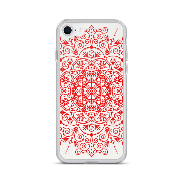 Moroccan Mandala – Crimson Palette • iPhone Case