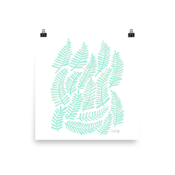 Fronds – Mint Palette • Art Print