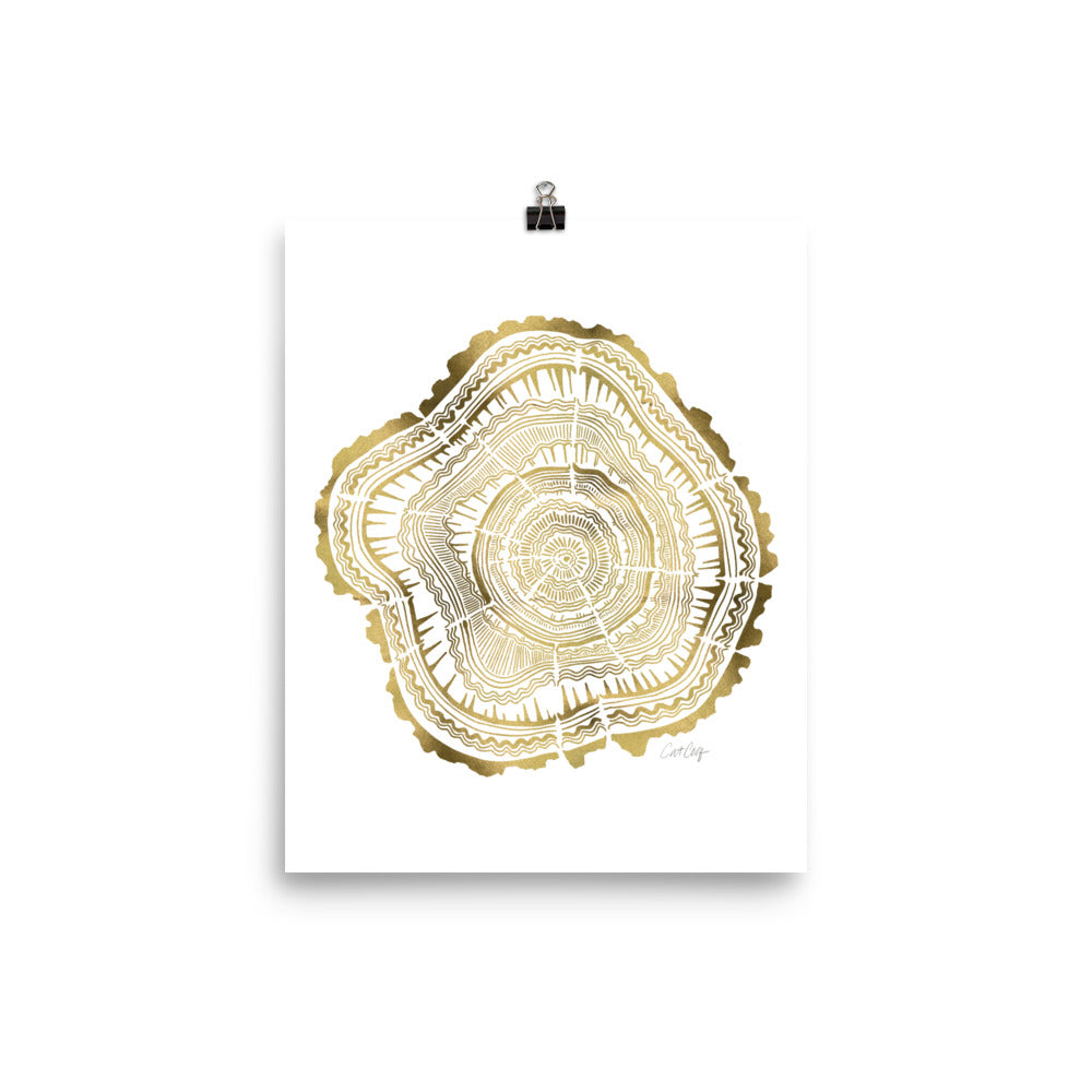 Tree Rings – Gold Palette • Art Print