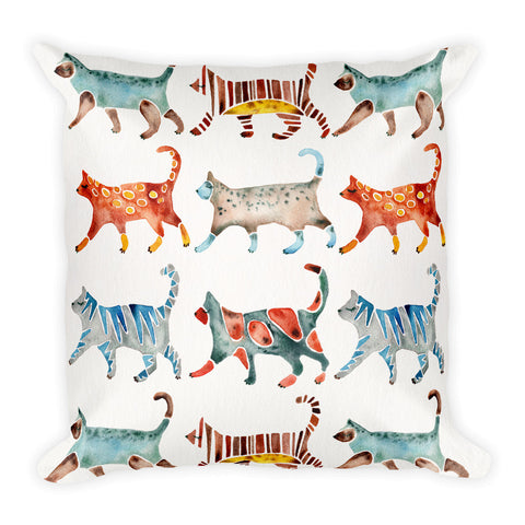 Cat Collection – Original Palette  •  Square Pillow