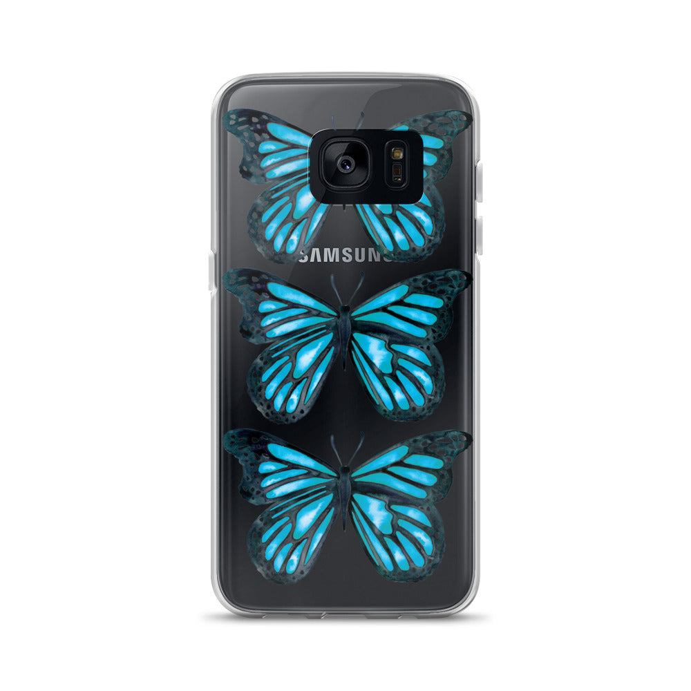 Butterfly – Blue Palette • Samsung Case (Transparent)