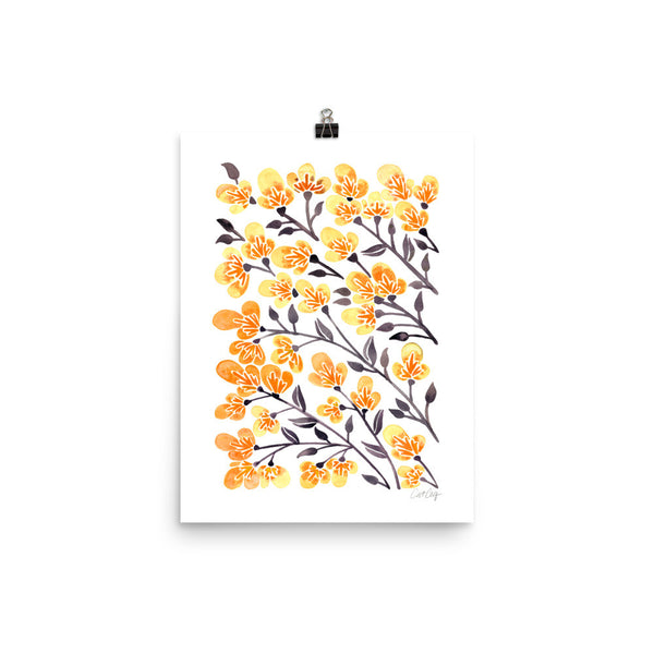 Cherry Blossoms – Yellow Palette • Art Print