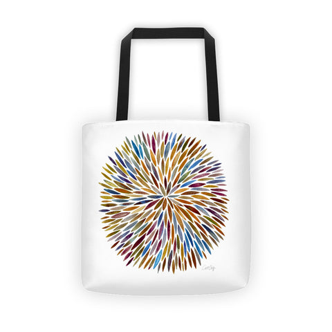 Watercolor Burst – Vintage Palette  •  Tote Bag