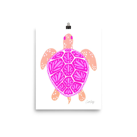 Sea Turtle – Pink Palette  •  Art Print