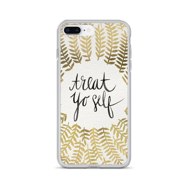 Treat Yo Self – Gold Palette • iPhone Case