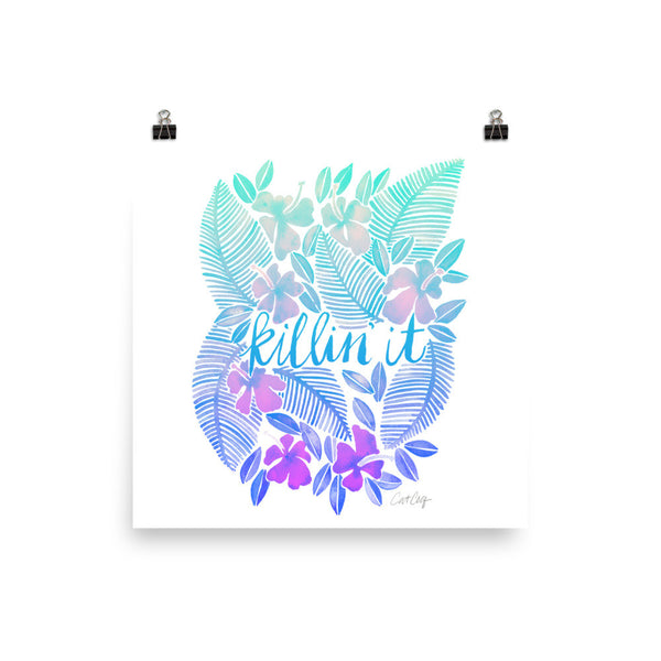 Killin' It – Turquoise Ombré Palette • Art Print