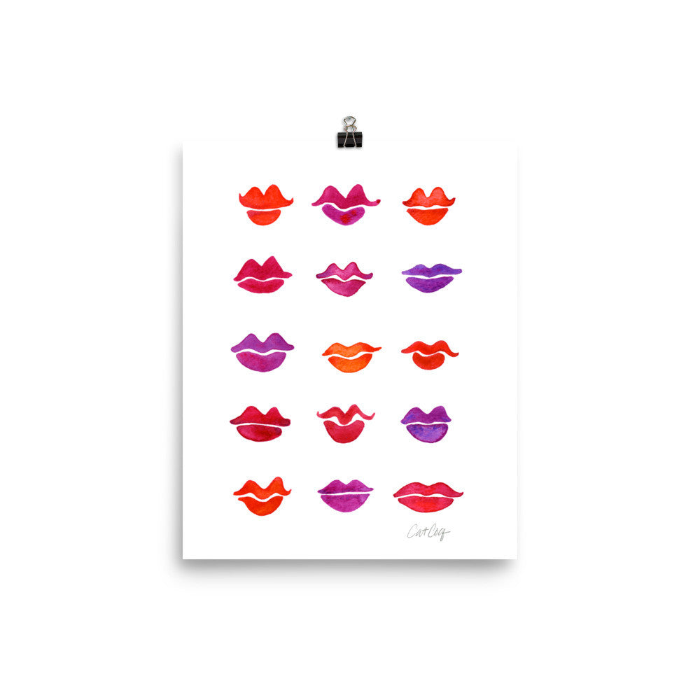 Kiss Collection – Fuchsia Palette • Art Print