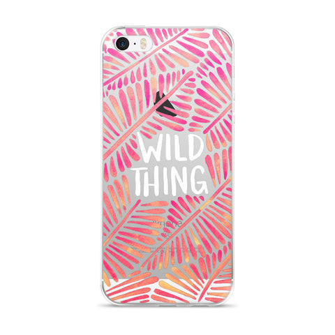 Wild Thing – Pink Palette  •  iPhone 5/5s/Se, 6/6s, 6/6s Plus Case (Transparent)