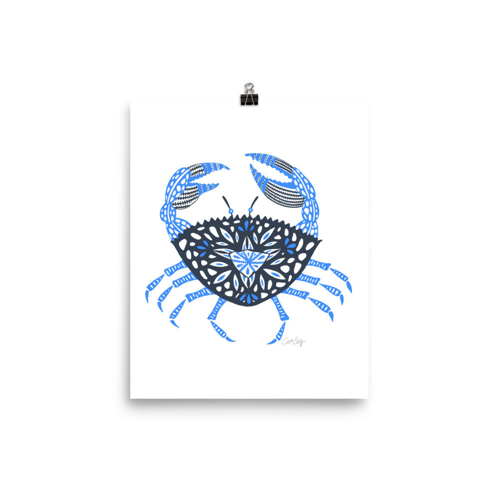 Crab – Blue Palette • Art Print