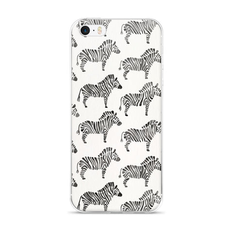 Zebra Collection – Black Palette  •  iPhone 5/5s/Se, 6/6s, 6/6s Plus Case