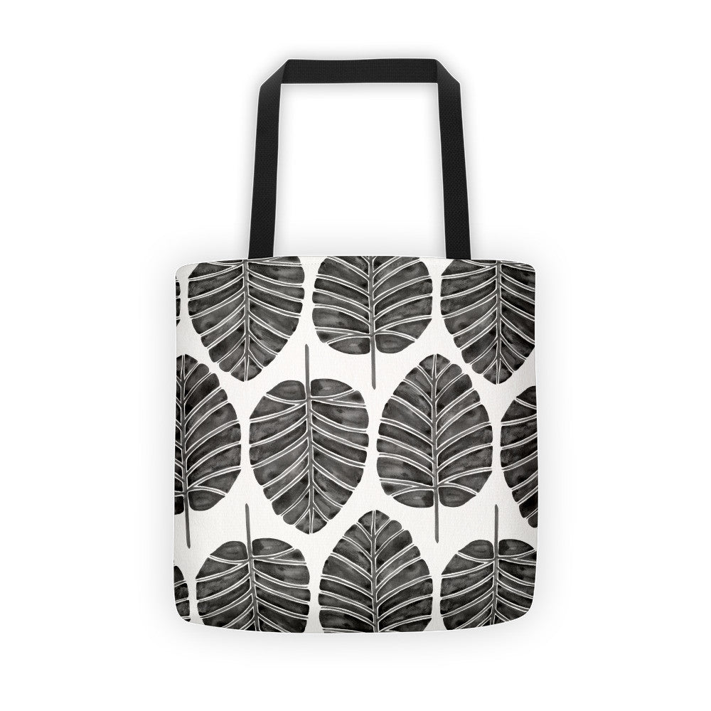 Elephant Ear Alocasia – Black Palette  •  Tote Bag