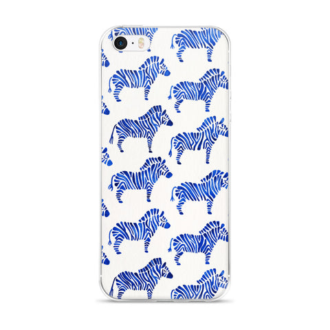 Zebra Collection – Navy Palette  •  iPhone 5/5s/Se, 6/6s, 6/6s Plus Case