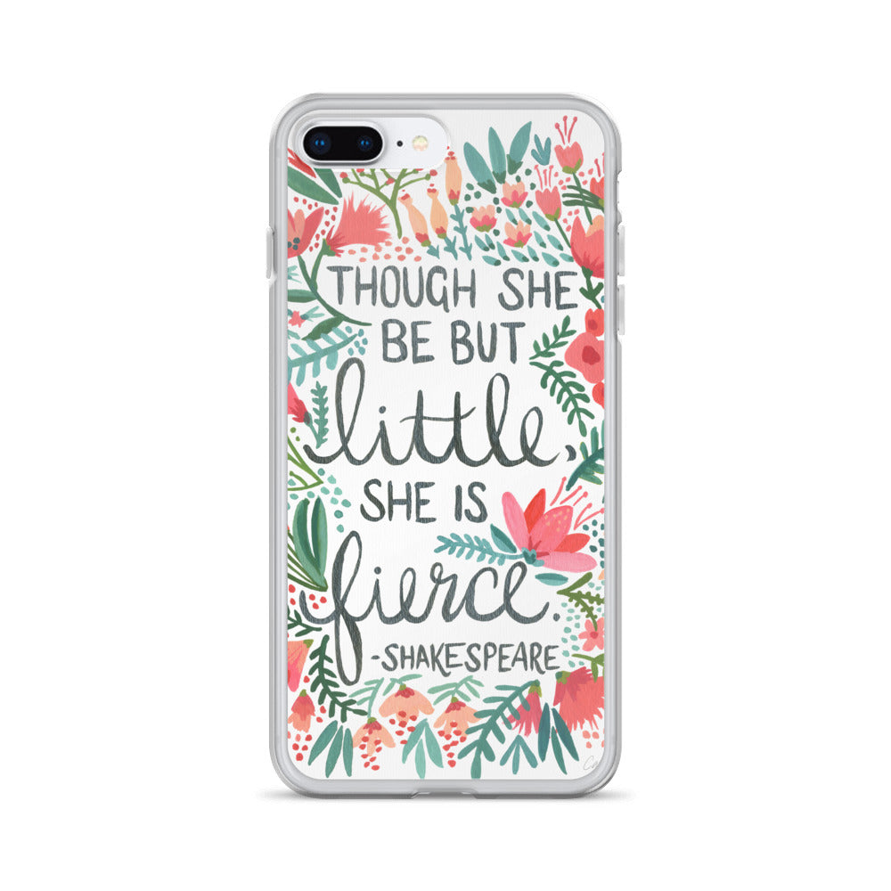 Little & Fierce – Black Calligraphy • iPhone Case