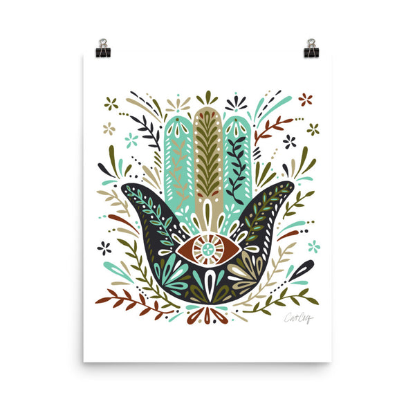 Hamsa Hand – Earth Palette • Art Print