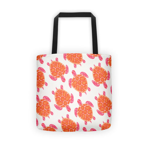 Sea Turtle – Melon Palette  •  Tote Bag
