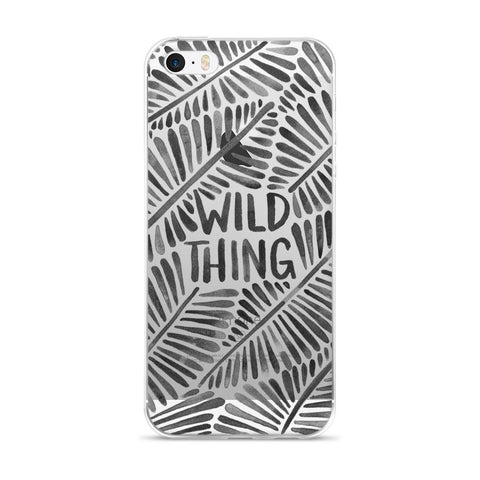 Wild Thing – Black Palette  •  iPhone 5/5s/Se, 6/6s, 6/6s Plus Case (Transparent)