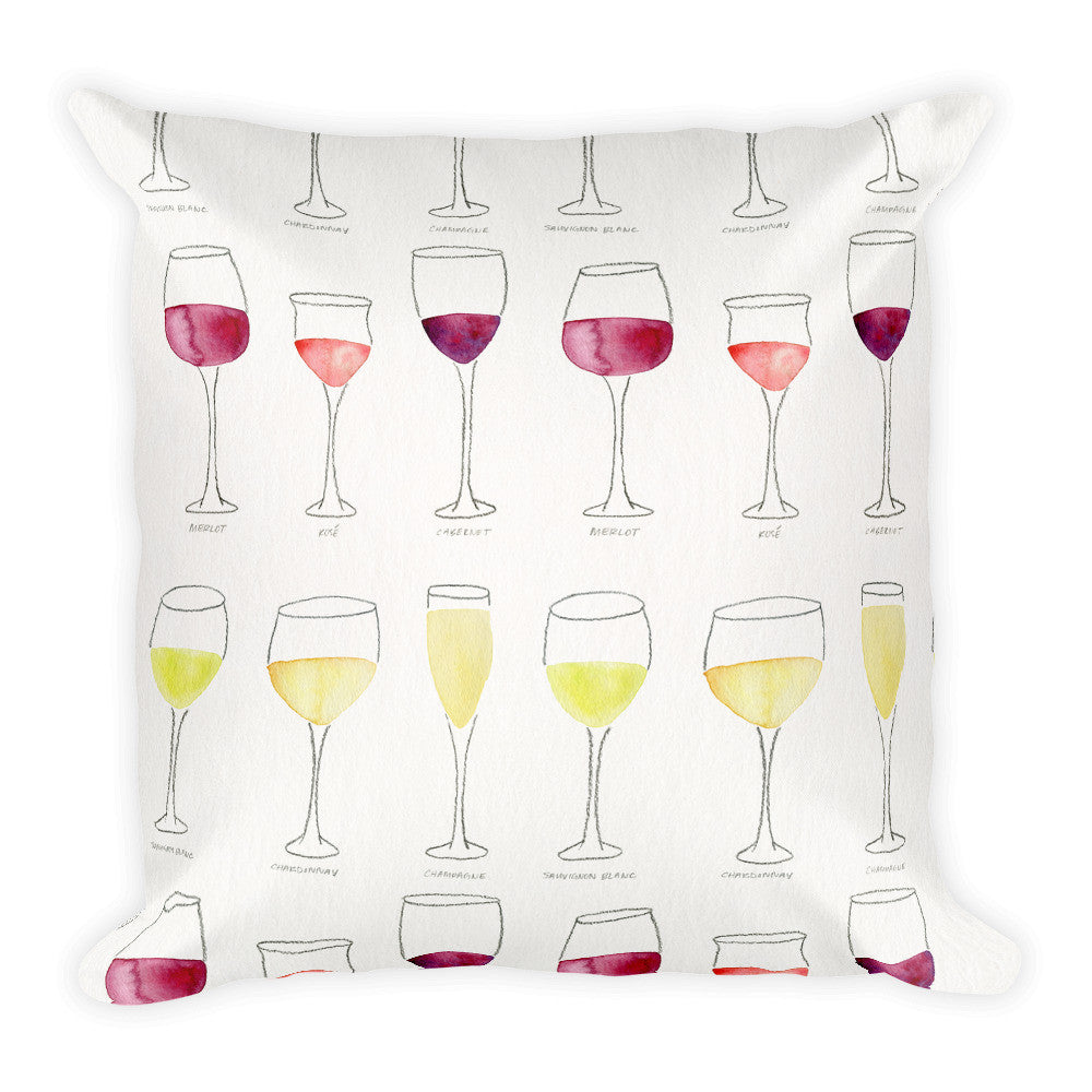 Wine Collection  •  Square Pillow
