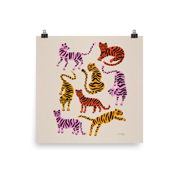 Tiger Collection - Pink & Yellow