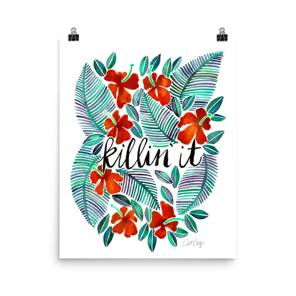 Killin' It – Red & Green Palette • Art Print