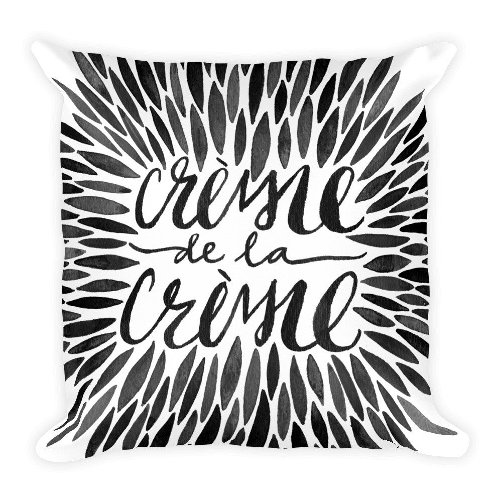 Crème de la Crème – Black Palette  •  Square Pillow