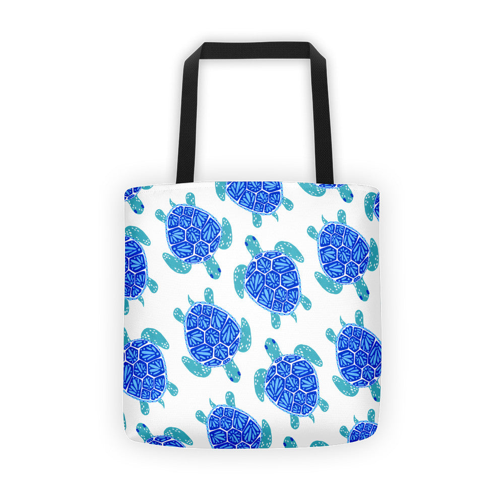 Sea Turtle – Blue Palette  •  Tote Bag