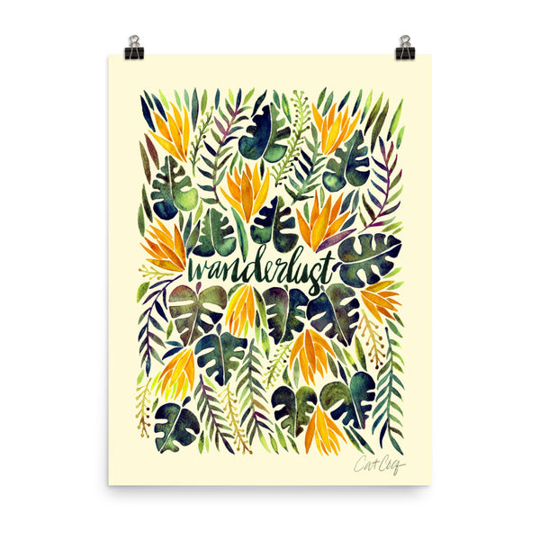 Wanderlust – Orange & Olive Palette • Art Print