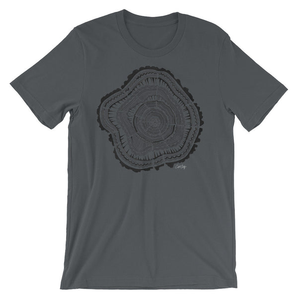 Tree Rings – Black Palette • Unisex short sleeve t-shirt