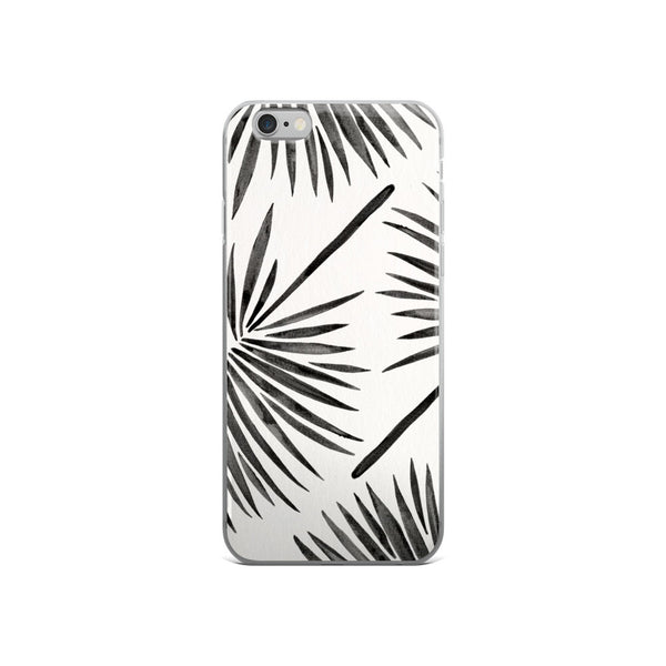 Fan Palm – Black Palette  •  iPhone 5/5s/Se, 6/6s, 6/6s Plus Case