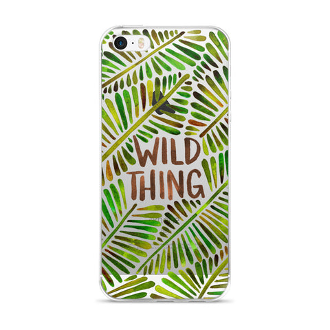 Wild Thing – Green Palette  •  iPhone 5/5s/Se, 6/6s, 6/6s Plus Case (Transparent)