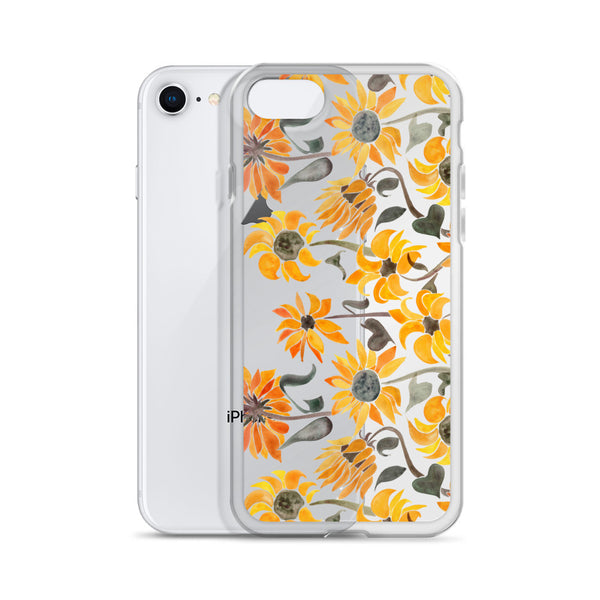 Sunflower Watercolor – Yellow Palette • iPhone Case
