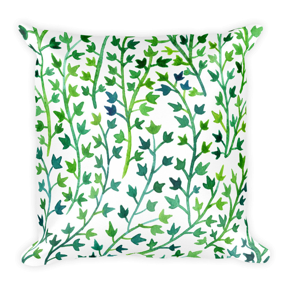 Ivy – Green Palette • Square Pillow