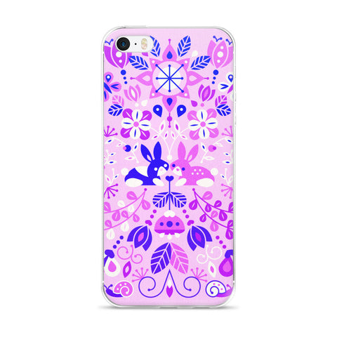 Bunny Lovers – Indigo Palette  •  iPhone 5/5s/Se, 6/6s, 6/6s Plus Case